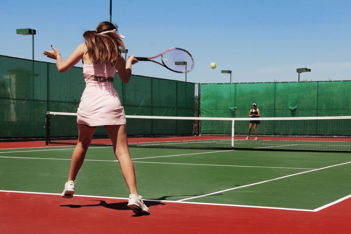 Playing Tennis in Baja